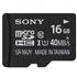 索尼(SONY)16G TF(MicroSD) UHS-1高速存储卡(Class10)读取速度40MB/S