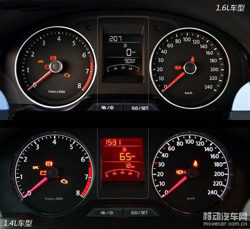 新桑塔纳1.4l车型 仪表盘高清图片