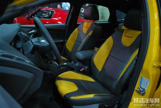 谢尔比还为福克斯st设计了特殊的车身拉花,并将发动机盖和高清图片