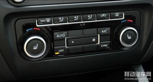 大众速腾座椅加热及空调按钮
