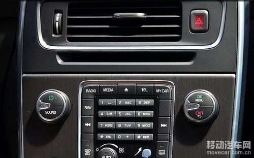 沃尔沃新s60中控台按键旋钮