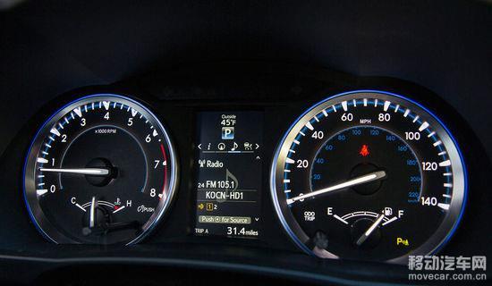 2014款丰田汉兰达 仪表盘