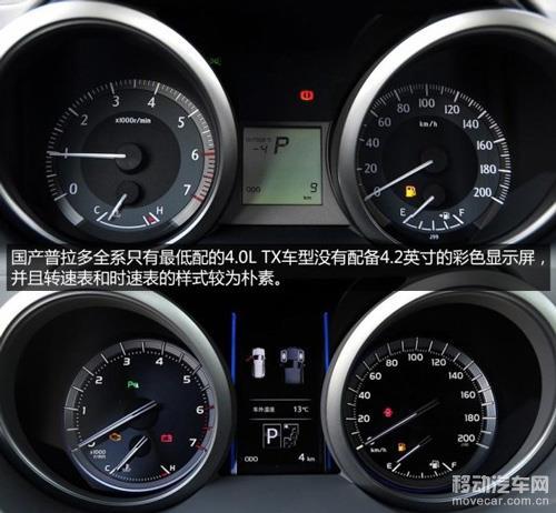 国产2014款丰田普拉多 仪表盘