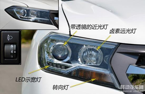 汽车大灯近光灯高度图解