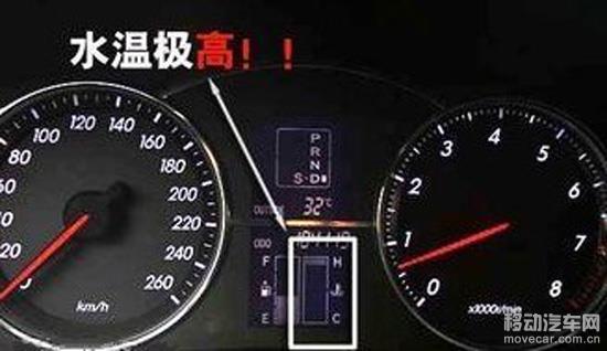 奔驰汽车仪表盘指示灯图解水温表是哪个?