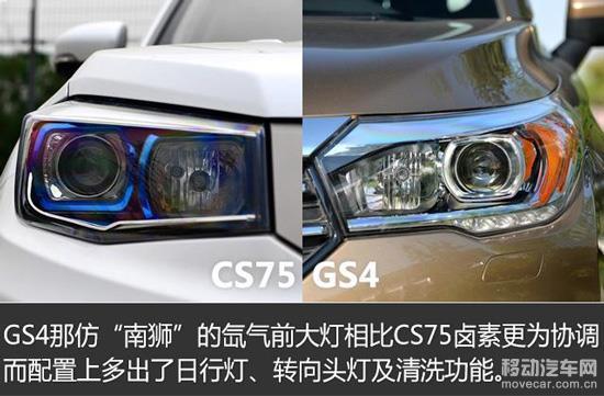 长安cs75与传祺gs4大灯