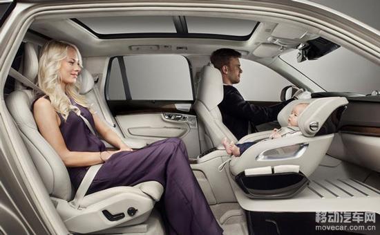 沃尔沃副驾儿童安全座椅 高清图片