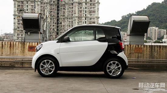 全新一代smart fortwo车身侧面