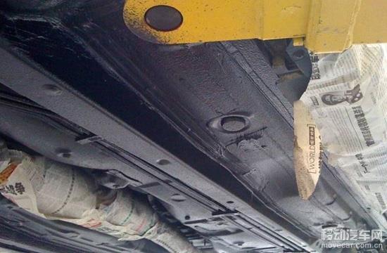 所谓底盘装甲并非是在汽车底盘上罩上铁甲,而是在底盘表面高清图片