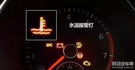 汽车仪表指示灯水温报警灯
